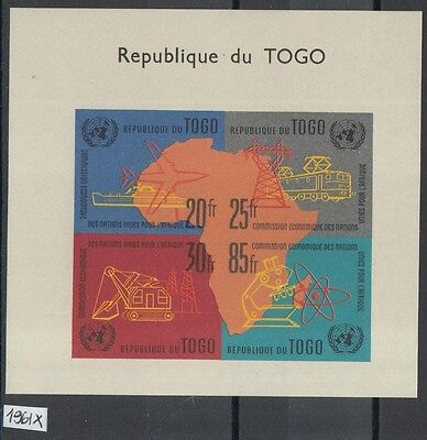 XG-Y970 TOGO IND - Industry, 1961 Trains, Science, Imperf. MNH Sheet
