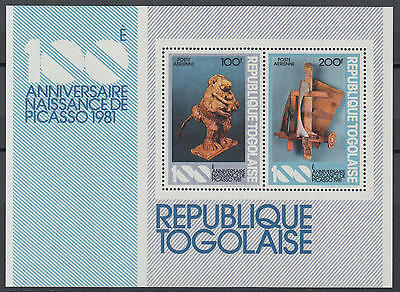XG-Y973 TOGO IND - Picasso, 1981 Birth Centenary, Paintings MNH Sheet