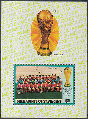 XG-Y999 ST VINCENT & GRENADINES IND - Football, 1986 Mexico World Cup MNH Sheet