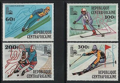 XG-O347 OLYMPIC GAMES - Central African, 1980 Winter, Lake Placid '80 MNH Set