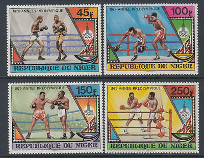 XG-O360 OLYMPIC GAMES - Niger, 1979 Russia Moscow 1980, 4 Values MNH Set