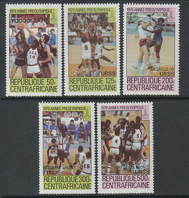 XG-O432 OLYMPIC GAMES - Central African, 1980 Russia Moscow, Winners Ovp MNH Set