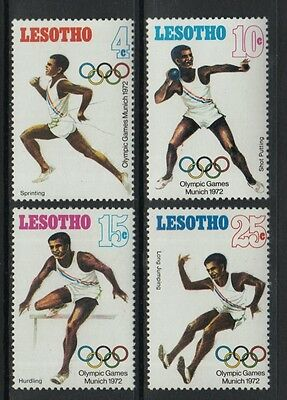 XG-O434 OLYMPIC GAMES - Lesotho, 1972 Germany Munich '72 , 4 Values MNH Set