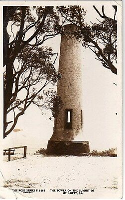 Tower Mt. Lofty - South Australia - Real Photo RPPC 1937 - Fair Heavy Crease