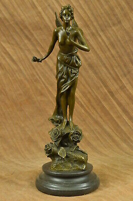 Handmade bronze sculpture Art Villlanis By Fairy Forest Large Signed DB