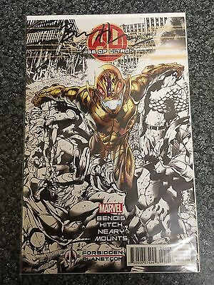 Age Of Ultron Issue 1 Signed Bryan Hitch Nm/vf First Print Bagged And Boarded