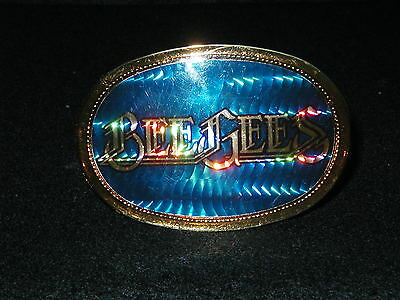 BeeGees Bee Gees Vintage Belt Buckle 1977 Pacifica Holographic