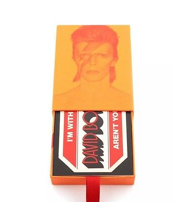 """Limited Edition DAVID BOWIE """"is leaving hundreds of clues"""" 50 postcards set V&A"""