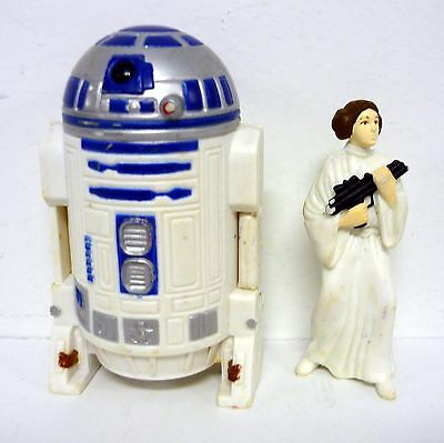 STAR WARS R2-D2 DROID W/ PRINCESS LEIA Applause Figures Taco Bell COMPLETE 1996