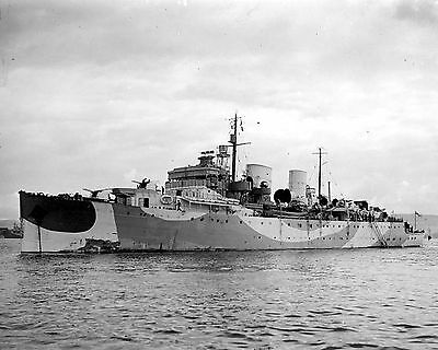 Royal Canadian Navy Cruiser Hmcs Prince Robert F56 With Stats And History Sheet