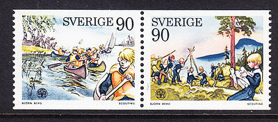 Sweden 1975 - Scouting PAIR - Complete set - MNH