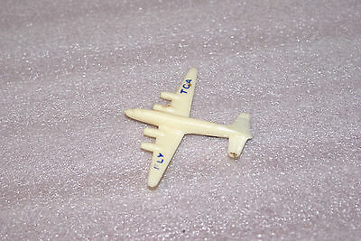 Vintage Fly TCA Celluloid Plastic Airplane Pin Trans Canada Airlines
