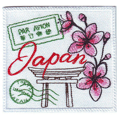 Japan Stamp Embroidered Patch