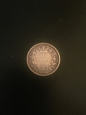 1859 Sterling Silver Sixpence