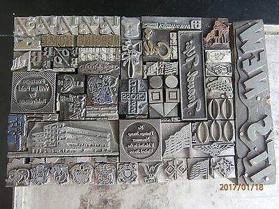 Letterpress Printing Blocks Lot Of Sorts, Logos, Embellishments