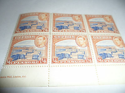 Cyprus Block Of 6 Mnh Stamps