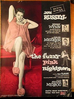 1957 Pressbook Jane Russell In The Fuzzy Pink Nightgown 12 Pages Cult Classic