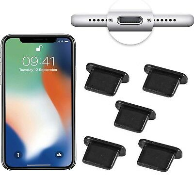 5x Anti Dust Stopper Plug Charger Dock Lightning for iPhone XS and iPhone XR