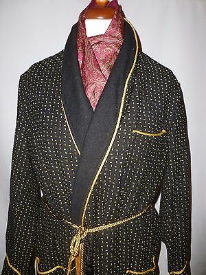 Vintage Colletts gentlemens outfitter Smoking Jacket Dressing Gown  size large