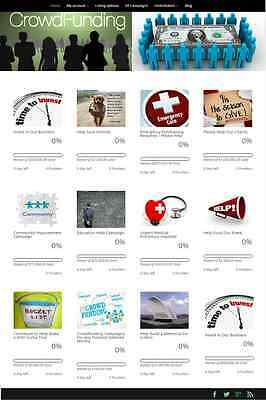 Niche Crowdfunding Service Website Business For Sale! Mobile Friendly Design