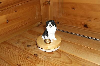 Border Collie Candle Jar Topper