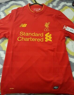 Liverpool mens 2016/17 home jersey BNWT size: S