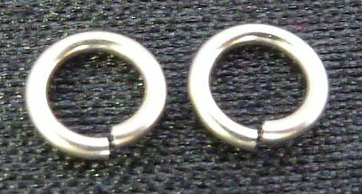 Solid 14Kt White Gold 4.5mm open jump rings 20ga gold jewelry supplies findings