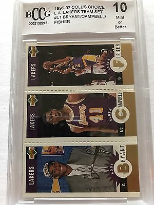 1996 Collector's Choice Kobe Bryant #L1 Team BCCG 10 Rookie