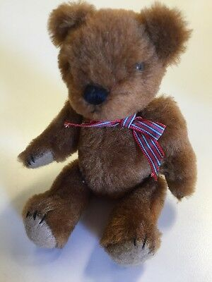 Vintage Original Handmade  Plush Brown Soft Mohair Bear No Lable  6""