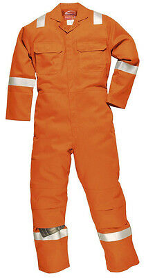 Portwest Bizweld Iona - Biz5 Flame Retardent Coverall With Hi Vis Tape