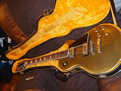 Vintage,70,s Univox Custom Aged GOLD TOP  LP Style/Japan Made Guitar+Ohsc,Rare..