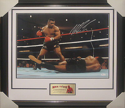 Mike Tyson Signed Framed 16X20 Inch Photograph James Spence Jsa Wp278198