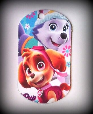 Paw Patrol -  8 Paper Girl Dog Tags -Party Favors Kids Birthday Skye Everest