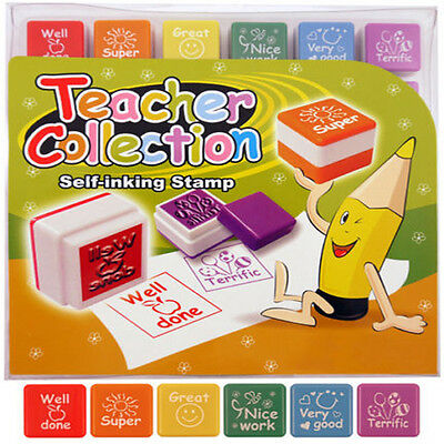 Teacher Reward Stamps Self Inking Motivation Positive Praise School Child Ub1