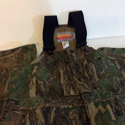 Woman's Winchester Bib Overalls Camouflage Trebark Snap Ankle Zip Front USA