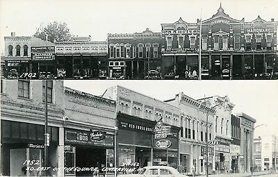 Southeast On The Square, 1902-1952, Centerville IA RPPC 1969