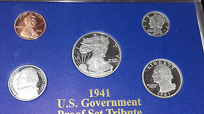 1941 Us Government Proof Set .999 Silver National Collector`s Mint