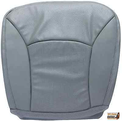 2000-2002 E-Series Econoline Van-Driver Bottom Vinyl PERFORATED Seat Cover GRAY