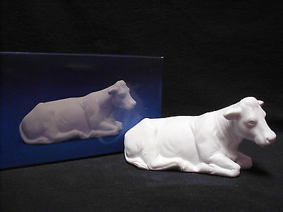 Avon Nativity Collectibles THE COW White Porcelain Bisque Figurine