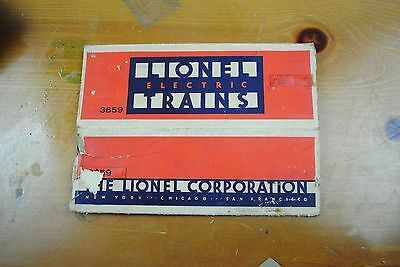 Lionel 3659 Operating Dump Car Box Only