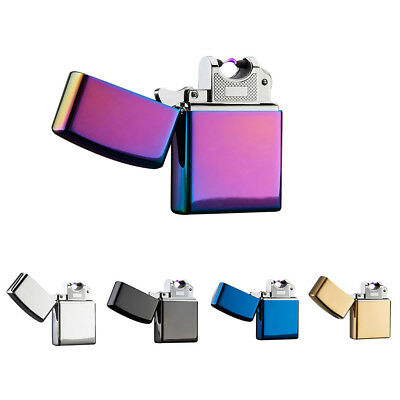 USB Rechargeable Single Arc Flameless Cigarette Lighter Electric Windproof  Gift