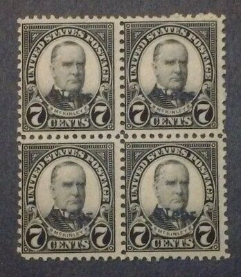 US MH 676 Block of Four 7 cent Nebraska Overprint 1929 issue mint PICTURES 2F