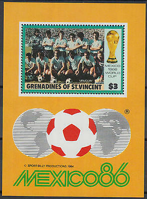 XG-Z000 ST VINCENT & GRENADINES IND - Football, 1986 Mexico World Cup MNH Sheet