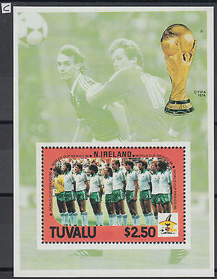 XG-Z004 TUVALU - Football, 1986 Mexico World Cup, N. Ireland MNH Sheet