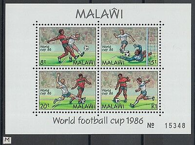 XG-Z006 MALAWI - Football, 1986 Mexico '86 World Cup MNH Sheet