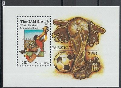 XG-Z022 GAMBIA IND - Football, 1986 Mexico World Cup, Winners Ovp. MNH Sheet