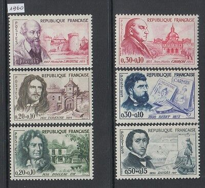 XG-O593 FRANCE - Red Cross, 1960 On Behalf Of, French Celebrities MNH Set