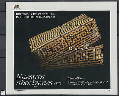 XG-Z060 VENEZUELA - Handicrafts, 1997 Aboriginal Products MNH Sheet