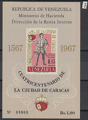 XG-Z062 VENEZUELA - Uniforms, 1967 Captain Francisco Fajardo, Imperf. MNH Sheet