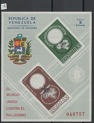 XG-Z063 VENEZUELA - Malaria, 1962 Against, Campaign, Imperf. MNH Sheet